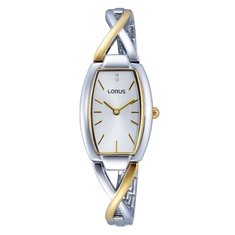 LORUS RRW51EX9 Ladies Dress Watch with Two Tone Shaped Strap