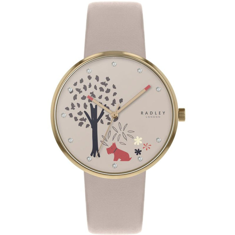 Radley Ladies Epping Forest Beige Leather Strap Watch - RY2786