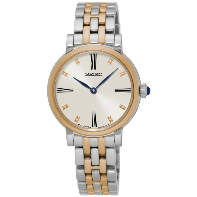 Seiko Ladies White Dial Rose Gold Bracelet Watch SFQ816P1