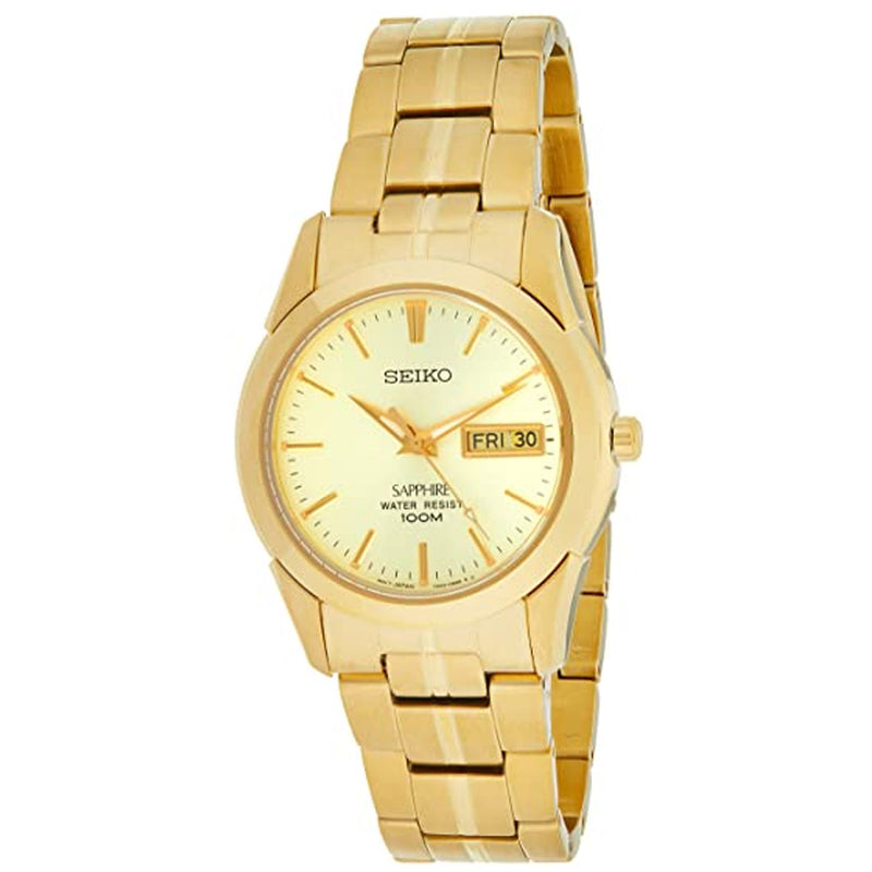 Seiko Men's Date Dial Gold Plated Bracelet Watch SGGA62P1