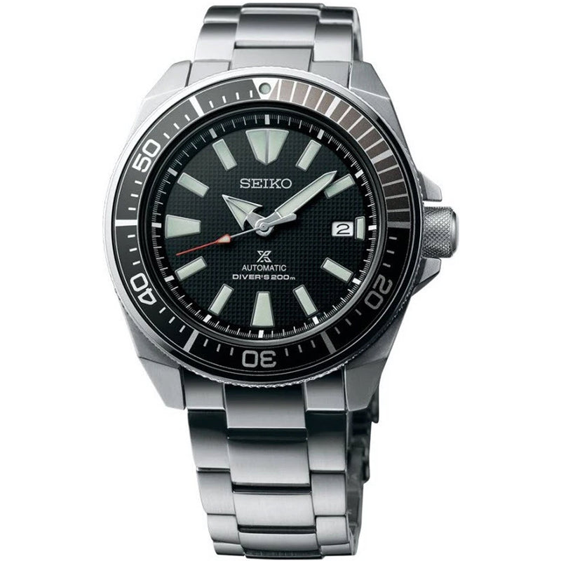 Seiko Men's Stainless Steel Black Dial Prospex Divers Watch SRPF03K1