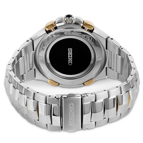 Seiko Men's Coutura Solar Radio Sync Two Tone Bracelet Watch SSG010P9