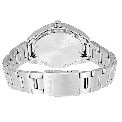 Seiko Men's Quartz Stainless Steel White Dial Watch SUR205P1