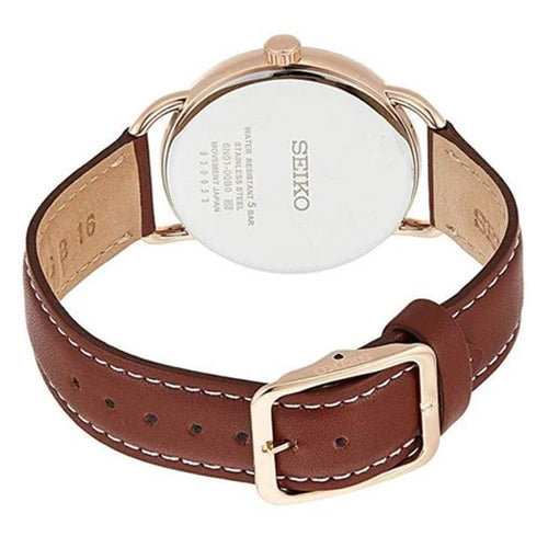 Seiko Men's Recraft Rose Gold Plated Watch SUR238P1