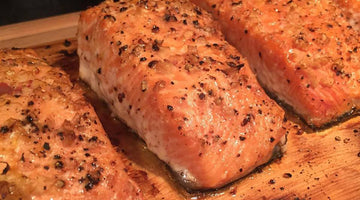Pan Roasted Salmon with Fresh Thyme, Garlic and Olive Oil