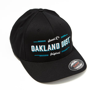 Oakland Dust Black Flex Fit Cap