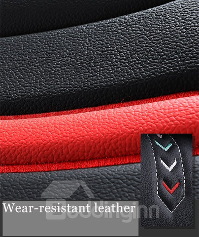5-Seater Car Seat Covers Full Coverage Soft Wear-Resistant Durable Skin-Friendly Man-Made PU Leather Airbag Compatible Fastness Universal Fit Seat Covers ( Ford Mustang and Chevrolet Camaro are Not Suitable) - SAMPLE