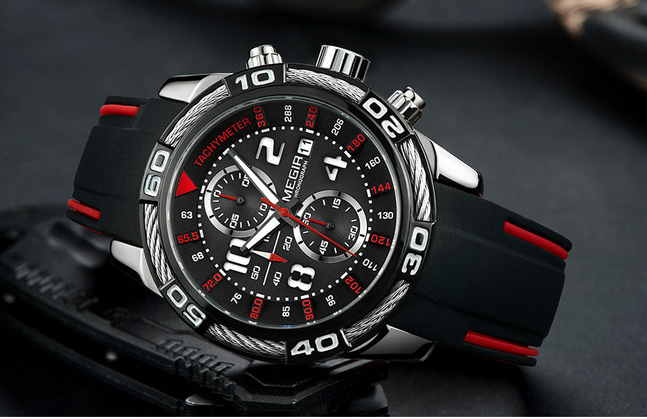 Megir Analogue Chronograph Battery Watch