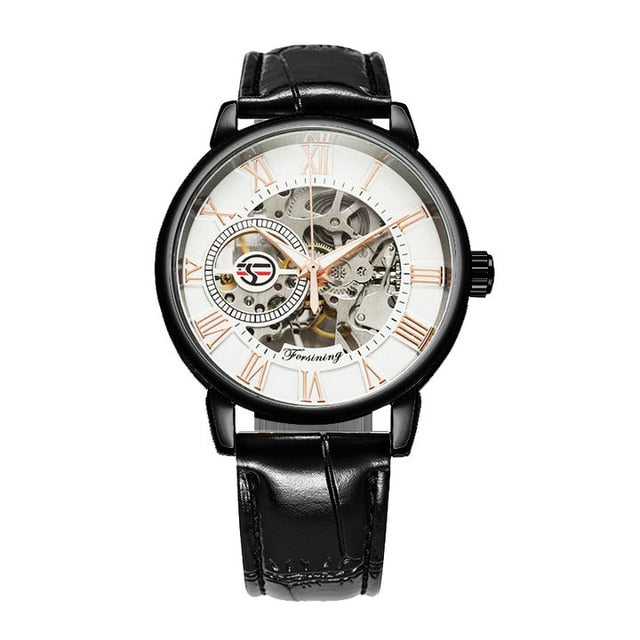 3D Logo Black Gold Men Watch