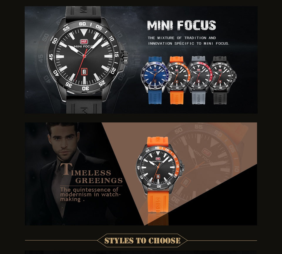 MINI FOCUS Army Military Sport Watch