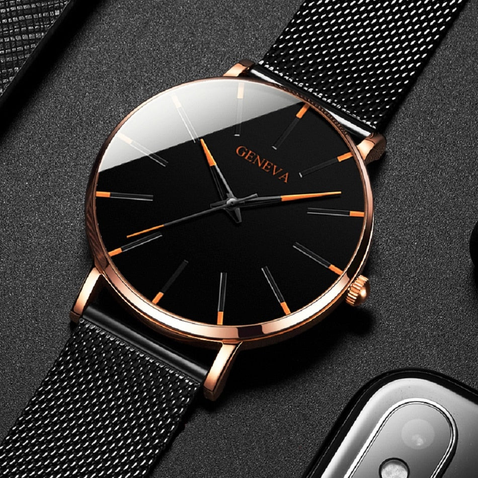 Minimalist Men's Fashion Ultra Thin Watch