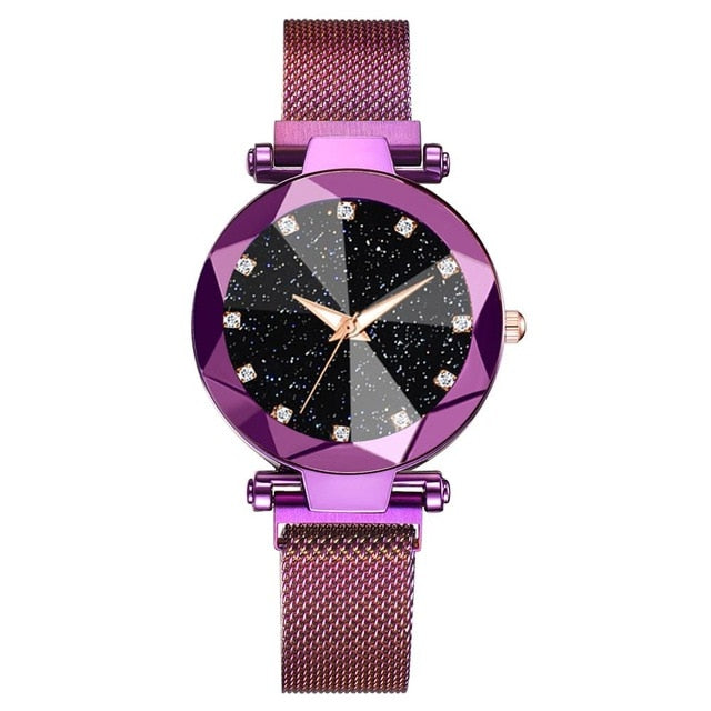 Luxury Women Starry Sky Magnetic Watch