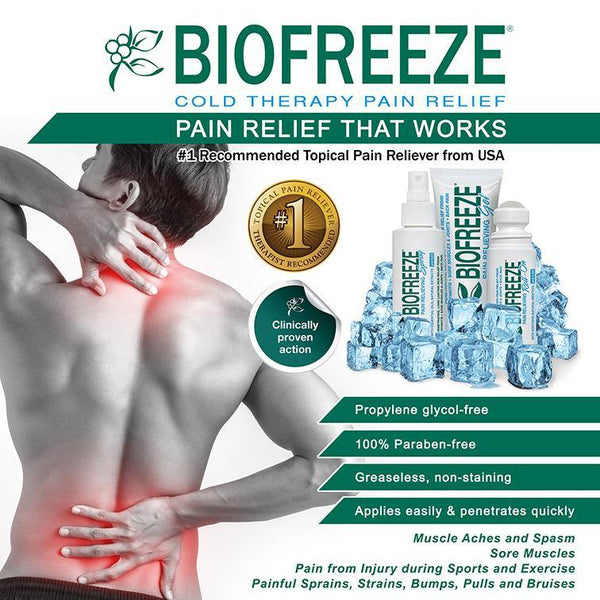 Biofreeze Pain Relief - Spray, 4oz - Lifeline Corporation