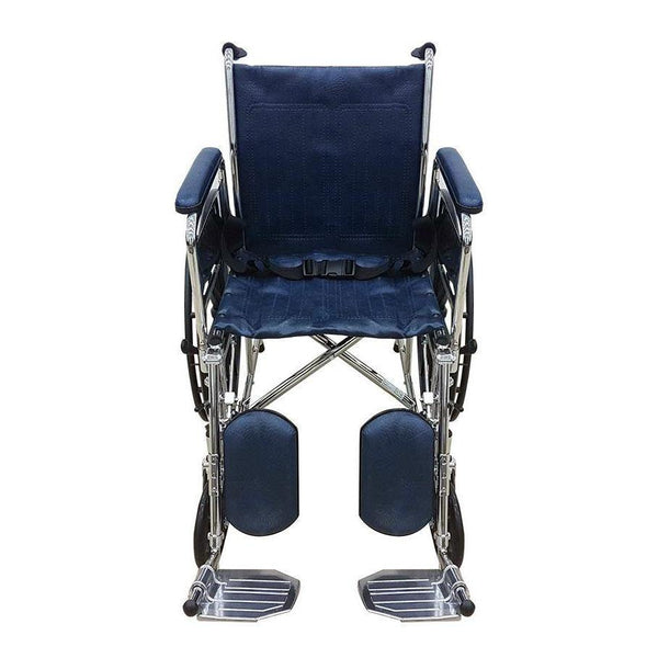 Chrome Elevating Wheelchair with Safety Belt - Lifeline Corporation