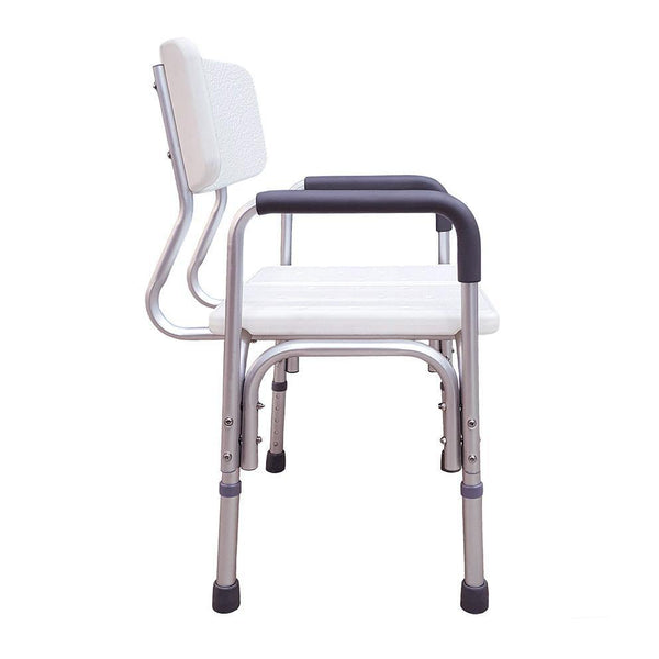 Height Adjustable Shower Chair with Arm Rest - Lifeline Innovators