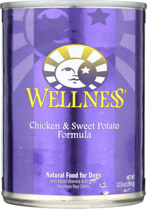 WELLNESS: Chicken and Sweet Potatoes Dog Food, 12.5 oz