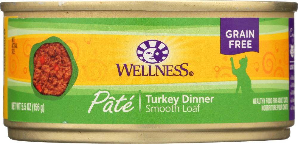 WELLNESS: Adult Turkey Cat Food, 5.5 oz
