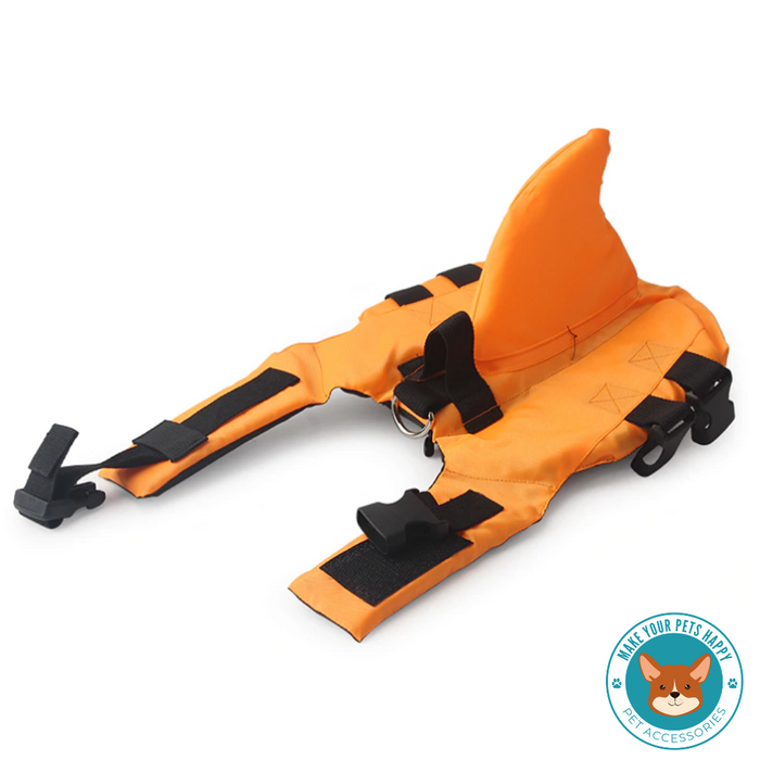 Shark style life jacket for pets