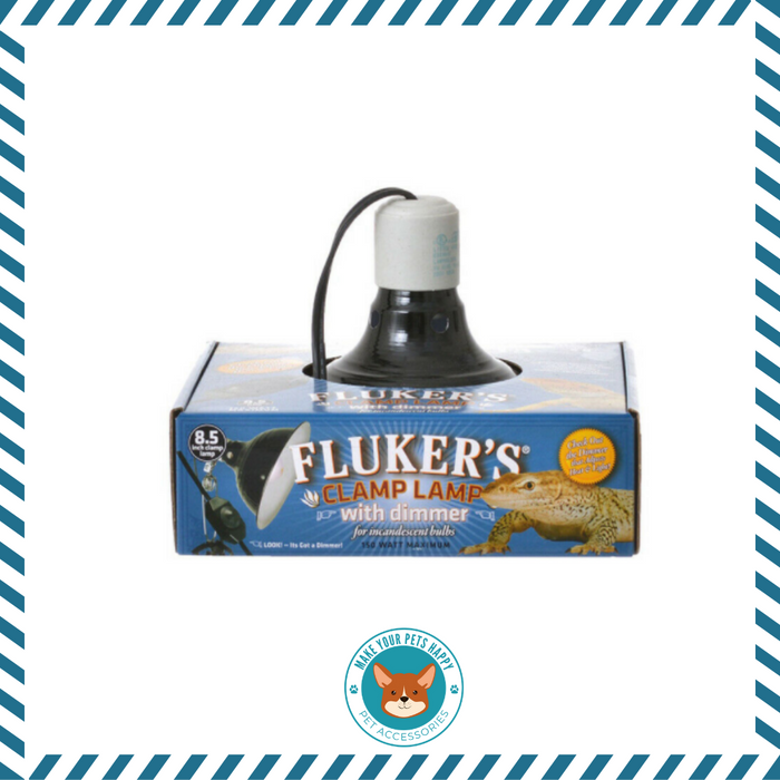 Fluker's Repta-Clamp Lamp 8.5-Inch Ceramic with Dimmable Switch