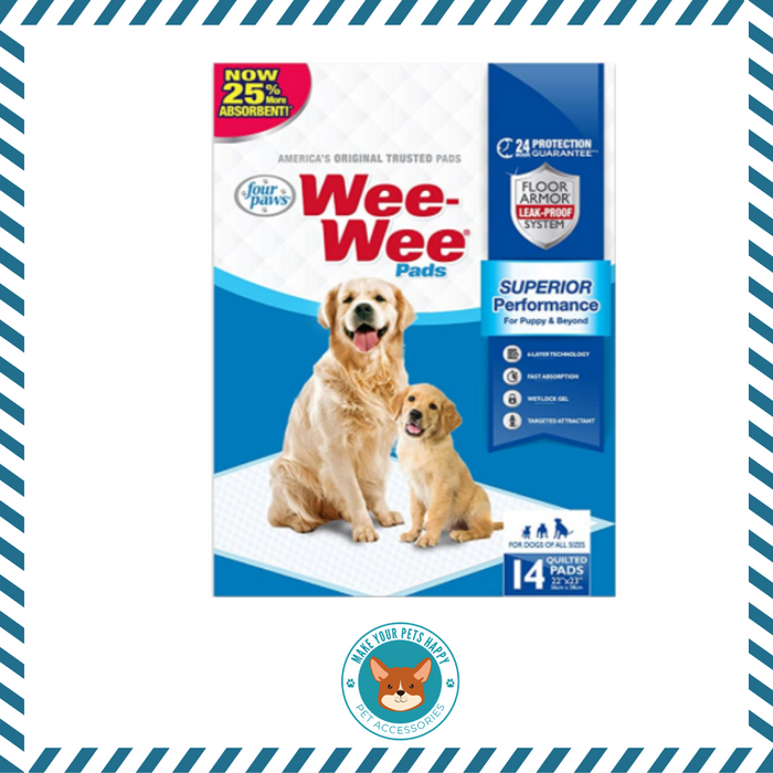 "Wee-Wee Puppy Training Pee Pads 14-Count 22"" x 23"" Standard Size Pads for Dogs"