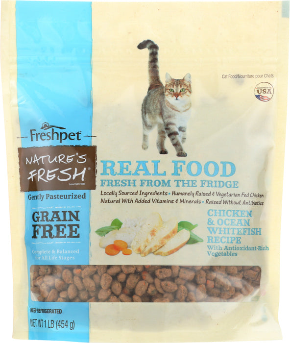NATURES FRESH: Cat Food Chicken and Ocean Whitefish Recipe, 1 lb