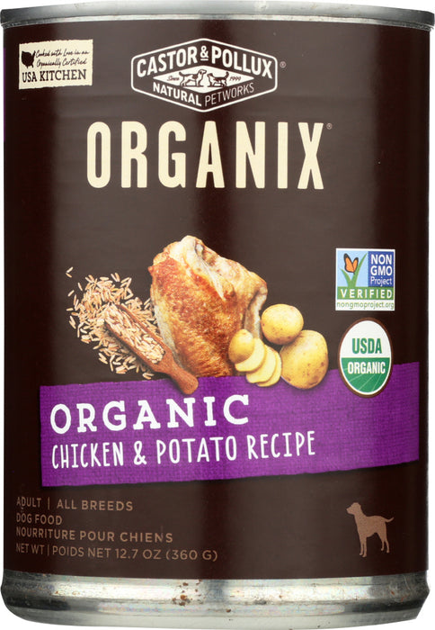 CASTOR & POLLUX: Dog Food Can Organic Chicken Potato, 12.7 oz