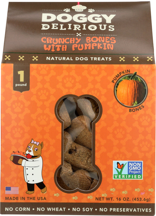 DOGGY DELIRIOUS: Dog Bone Pumpkin, 16 oz