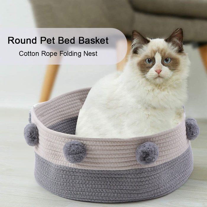 Round Pet Bed Basket