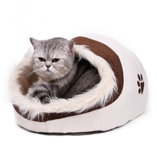 Animal Print Pet Bed Caves