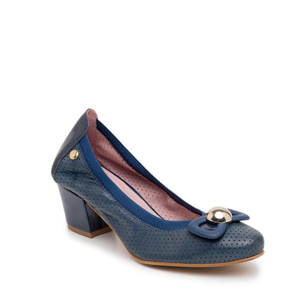 Zapato Semi Dress Azul Marino Perfurado