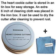 "Load image into Gallery viewer, Heart Cookie Cutter Set - 6 Piece - 3 4/5"", 3 1/5"", 2 4/5"", 2 3/5"", 2 1/5"", 1 4/5"" - Heart Shaped Cookie Cutters, Stainless Steel Biscuit Pastry Cutters"