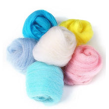 Load image into Gallery viewer, MOMODA 50 Colors Fibre Wool Yarn Roving for Needle Felting Hand Spinning DIY Craft Materials