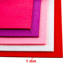 Load image into Gallery viewer, 25 Pieces Felt Fabric Sheets Felt Craft Sheets Colored Felt Sheets for Craft Sewing Patchwork Decorations, 8.3 x 11.8 Inch