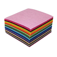Load image into Gallery viewer, flic-flac 44PCS 4 x 4 inches (10 x10cm) Assorted Color Felt Fabric Sheets Patchwork Sewing DIY Craft 1mm Thick