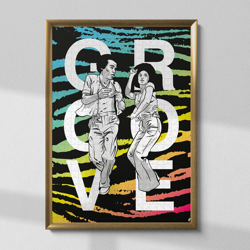 Puzzle groove piece and love. Puzzle en carton fabriqué en france