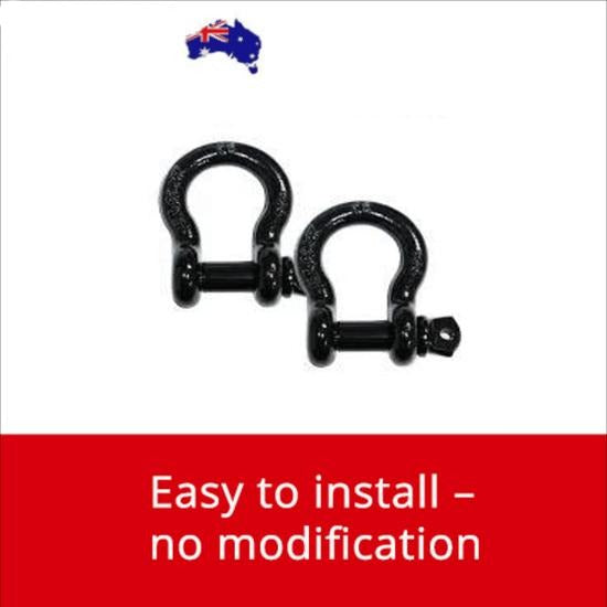 2 x Bow Shackles 4.75 TON - 19mm Recovery Hook D Shackle 4x4 Car Tow Trailer BRAUMACH Auto Parts & Accessories