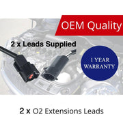 2 x O2 Oxygen Sensor Extension Leads for FORD Falcon Territory AU BA BF FG 400mm BRAUMACH Auto Parts & Accessories
