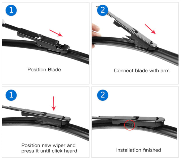 Aero Wiper Blades for Alfa Romeo MiTo Hatch 2009-2012 FRONT & REAR BRAUMACH BRAUMACH Auto Parts & Accessories