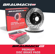 Rear Set Brake Pads + Disc Rotors Drilled for Holden Commodore  VE Ute 6.0 i V8 2007-2013