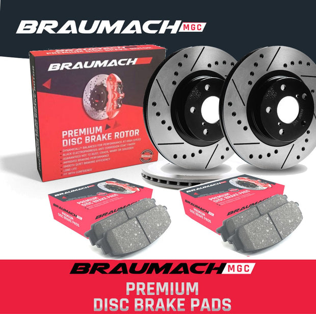 FULL SET Front Rear Brake Pads Disc Rotors Holden Commodore  VE Ute 6.0 i V8 2007-2013