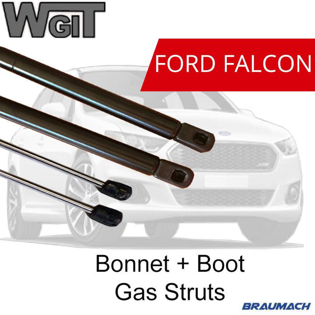 Gas Struts Bonnet Boot for Ford Falcon Sedan BA BF (WITH SPOILER) BRAUMACH Auto Parts & Accessories