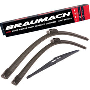 Wiper Blades Aero Proton Satria (For BS NEO) HATCH 2007-2015 FRONT PAIR & REAR BRAUMACH Auto Parts & Accessories