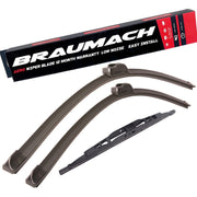 Wiper Blades Hybrid Aero For Mazda MPV LV WAGON 1995-1999 FRONT PAIR & REAR BRAUMACH Auto Parts & Accessories