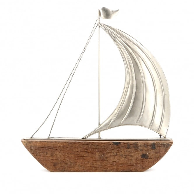 Reclaimed Wooden Single Sail Boat
