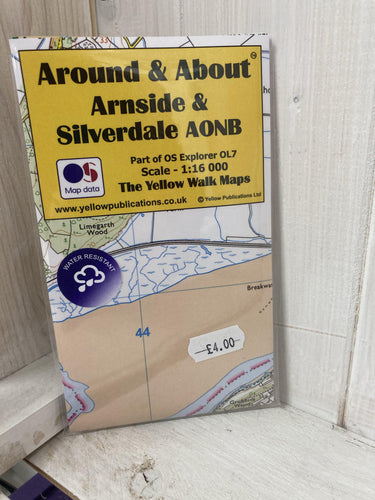 Around and About Arnside and Silverdale ANOB Walking Map - The Coast Office