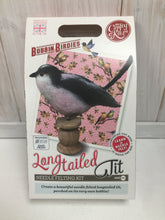 Load image into Gallery viewer, Needle felting Kit: Long Tailed Tit on Bobbin