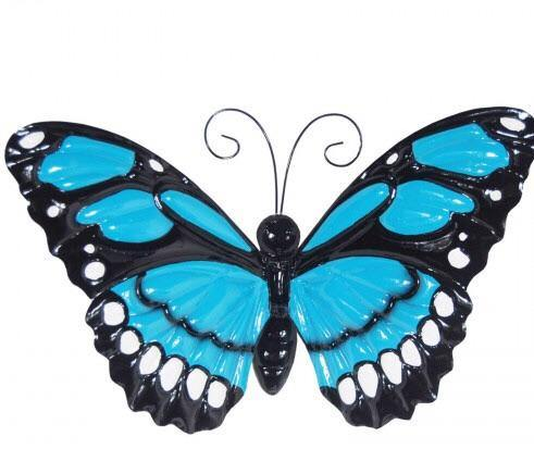 Large Metal Butterfly with Flapping Wings - The Coast Office