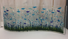 Load image into Gallery viewer, Cornflower Large Fused Glass Wave