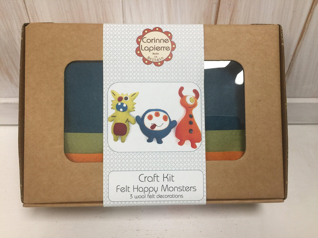 Felt Craft Kit by Corinne Lapierre: Happy Monsters - The Coast Office