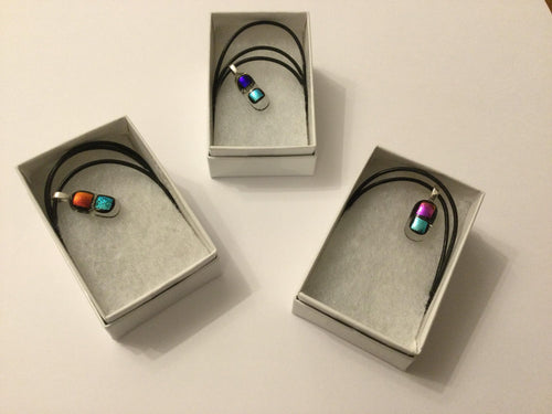 Fran Brown: Fused Glass Pearlised Pendants - The Coast Office